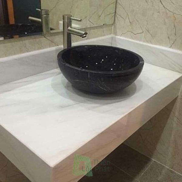 Mặt lavabo bằng đá hoa cương Thi công đá hoa cương
