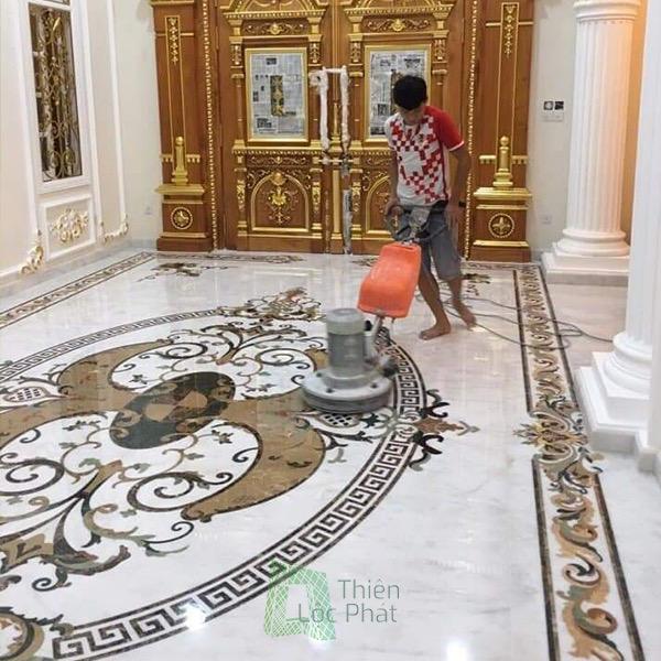 Thi công đá hoa giá rẻ tại Sài Gòn - Lát nền đá hoa cương tphcm Thiên Lộc Phát